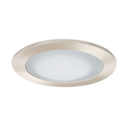 "3"" Low voltage recessed lighting frosted glass satin shower trim"
