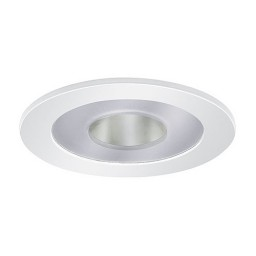"""3"""" Low voltage recessed lighting clear chrome reflector frosted glass white illuminator trim"""