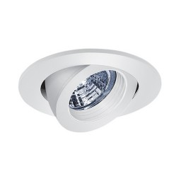 """3"""" Low voltage recessed lighting fully adjustable white baffle white gimbal ring trim"""