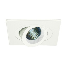 "3"" Low voltage recessed lighting fully adjustable white baffle white gimbal ring square trim"