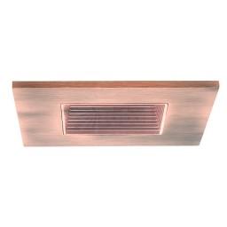 """3"""" Low voltage recessed lighting copper square baffle copper square trim"""