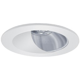 "4"" Low voltage recessed lighting chrome reflector white wall wash trim"