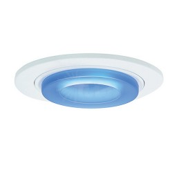 "6"" Low voltage recessed metropolitan blue glass white trim"