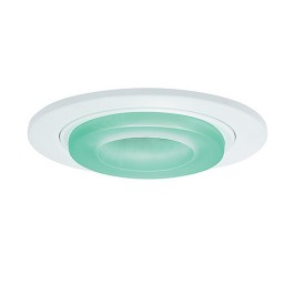 "6"" Low voltage recessed metropolitan green glass white trim"