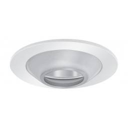 """4"""" Low voltage recessed lighting frosted glass illuminator II chrome reflector white trim"""