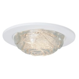 """4"""" Low voltage recessed lighting crystal rose glass white trim"""