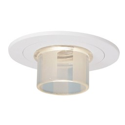 "4"" Low voltage recessed lighting crystal stripe glass white trim"