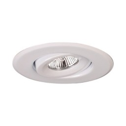 "4"" Low voltage recessed lighting 40 degree adjustable white gimbal trim"