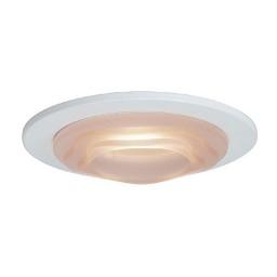"4"" Low voltage recessed lighting peach glass designer step lite white trim"