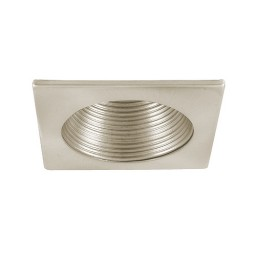 "4"" Low voltage recessed lighting satin stepped baffle satin square trim"
