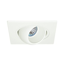 "4"" Low voltage recessed lighting 47 degree tilt adjustable white square eyeball trim"