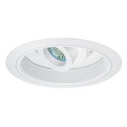 "6"" Recessed MR16 Electronic retrofit regressed eyeball white reflector white trim"