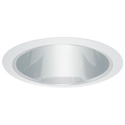 "6"" Recessed MR16 retrofit electronic clear chrome reflector white trim"