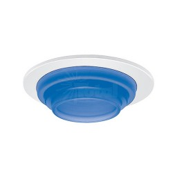 "6"" Low voltage recessed metropolitan stepped blue glass white trim"