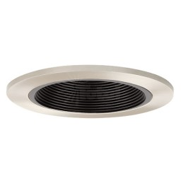 "4"" Recessed lighting black baffle satin trim"