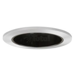 "4"" Recessed lighting specular black reflector chrome trim"