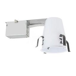 "4"" Recessed lighting non-IC GU10 120volt air tight remodel housing"