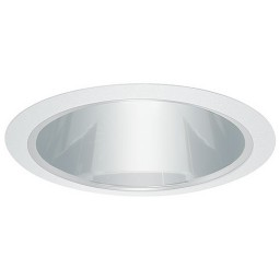 "5"" Recessed lighting clear chrome reflector white trim"