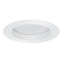 "5"" Recessed lighting albalite lens white reflector white trim"