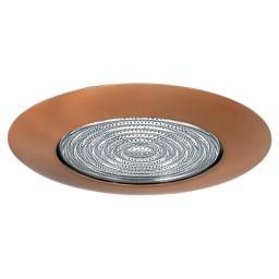 "6"" Recessed lighting fresnel lens bronze shower trim"