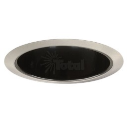 "6"" Recessed lighting Par 30 R 30 specular black reflector satin trim"