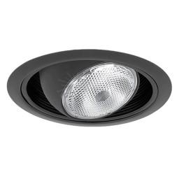 "6"" Recessed lighting regressed black eyeball black baffle black trim"