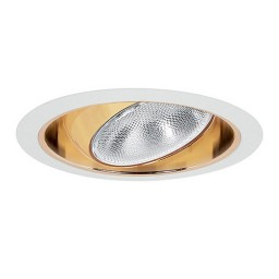 "6"" Recessed lighting Par 30 R 30 white regressed eyeball gold reflector white trim"