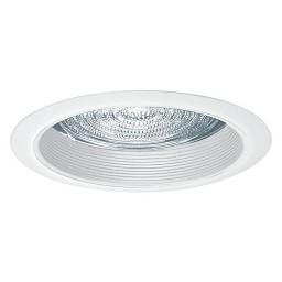 "6"" Recessed lighting A19 fresnel lens white baffle white shower trim"