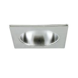 "6"" Recessed lighting designer square specular clear chrome reflector chrome trim"