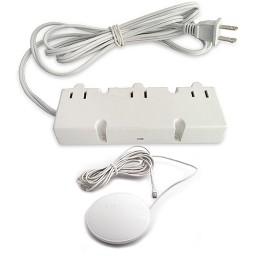 Under cabinet DM3-120-WH 200watt 12VAC electronic white transformer 3 outlets with tap dimmer 120VAC