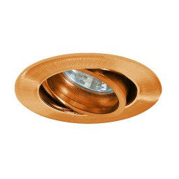 Under cabinet adjustable copper recessed gimbal trim 12 volt 20watt MR11