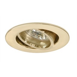 LED under cabinet adjustable polished brass recessed gimbal trim 12 volt 3 watt MR16 LED