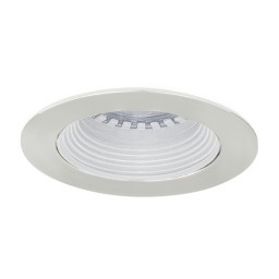 LED under cabinet recessed white baffle chrome trim 12 volt 3 watt MR16 LED