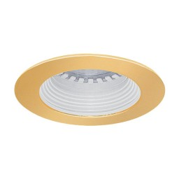 LED under cabinet recessed white baffle gold trim 12 volt 1 watt MR11 LED