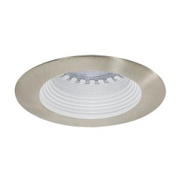 LED under cabinet recessed white baffle satin trim 12 volt 1 watt MR11 LED