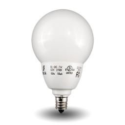 Globe Compact Fluorescent - CFL - 7watt - 27K