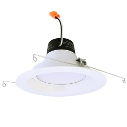 "Green Watt G-DL6D-19W-27EL 6"" dimmable LED recessed lighting 19watt retrofit white reflector trim 2700K"