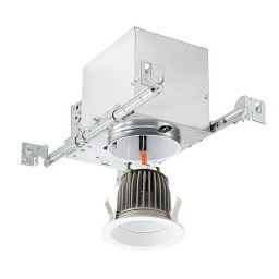 "4"" LED recessed lighting new construction IC AT housing white LED retrofit trim kit guaranteed fit"