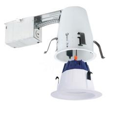 "4"" LED recessed lighting remodel IC air tight 3000K LED white trim kit guaranteed fit"