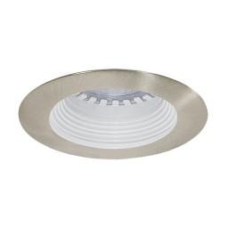 LED under cabinet recessed white baffle satin trim 12 volt 3 watt MR16 LED