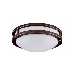 "LED 10"" two ring bronze ceiling surface light flush mount cool white 4000K dimmable LED-JR001BRZ"