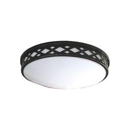"LED 10"" diamond lattice bronze round ceiling surface light flush mount warm white 3000K dimmable LED-JR001DBZ"