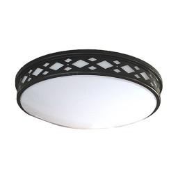 "LED 14"" diamond lattice bronze round ceiling surface light flush mount warm white 3000K dimmable LED-JR002DBZ"
