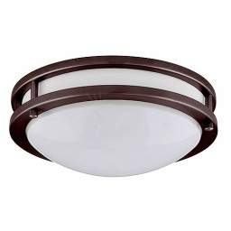 "LED 17"" two ring bronze ceiling surface light flush mount cool white 4000K dimmable LED-JR003BRZ"