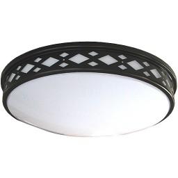 """LED 17"""" diamond lattice bronze round ceiling surface light flush mount natural white 4000K dimmable LED-JR003DBZ"""