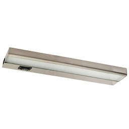 "Amax Lighting LEDUC12NKL 12"" nickel LED under cabinet light 3000K 5watt fixture"