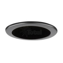 "4"" Recessed lighting LED retrofit black reflector black trim"
