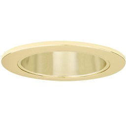 "4"" Recessed lighting LED retrofit gold reflector polished brass trim"