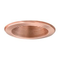 "6"" Recessed lighting 14watt LED retrofit copper baffle copper trim"