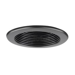 "6"" Recessed lighting 14watt LED retrofit black baffle black trim"